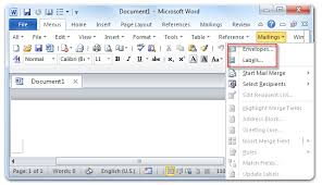 where are the envelopes and labels in microsoft word 2007 2010