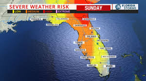 Daytona State College Map by Severe Thunderstorms Likely In Florida Sunday Uf Weather Center