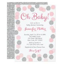 pink and silver baby shower pink pink silver baby shower invitations baby shower invitations