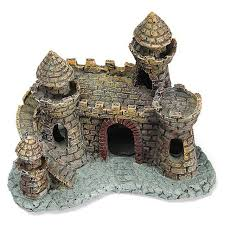resin castle aquariums decorations castle tower ornaments