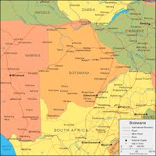 angola physical map botswana map and satellite image