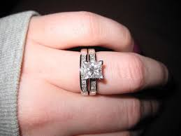 1 Carat Cushion Cut Engagement Ring 2 Carat Diamond Engagement Ring On Finger Lake Side Corrals