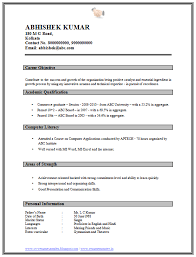 Fresher Resume Sample by Professional Curriculum Vitae Resume Template For All Job