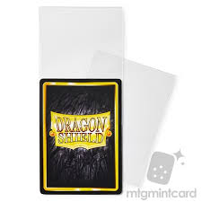 dragon shield 100 perfect fit deck protector sleeves clear