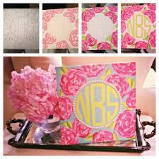 Lilly Pulitzer Furniture by A Splash Of Sparkle Lilly Pulitzer Inspired Monogram Painting