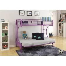 Purple Bunk Beds Acme Furniture Eclipse Purple Metal Bunk Bed