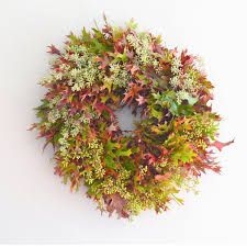 Fall Wreaths Oak Wreath Eucalyptus Wreath Fall Wreath Door Wreaths For Fall