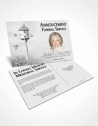 bifold order of service obituary template brochure free birds of a