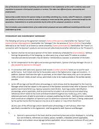 sponsorship contract template for artists