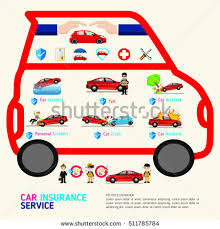 car protection business service icons template stock vector