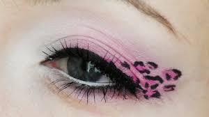 halloween leopard makeup tutorial pink leopard print makeup tutorial youtube
