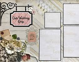 our wedding scrapbook wedding scrapbook kit etsy