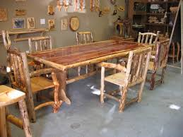 Log Dining Room Tables Full Funky Dining Room Set The Log Builders