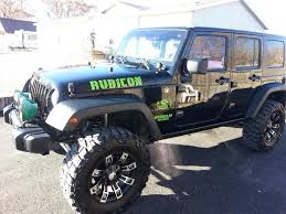 aqua jeep wrangler rubicon with army stencil font jeep wrangler hood side decals