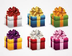 wrapped christmas boxes 6 christmas gift wrapped boxes vector set welovesolo