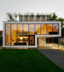 modern house in riehen made by glass concrete wood and metal photo