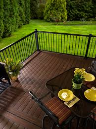 simple but warm and inviting tumbleweed by armadillo deck