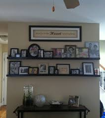 fancy diy gallery wall shelves and best 25 shelves on wall ideas