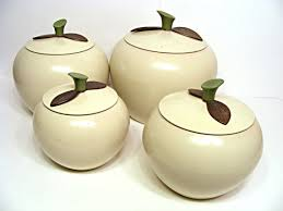 apple canisters for the kitchen vintage white apple canisters on etsy home sweet home