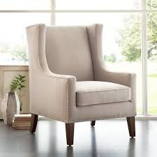 Wing Back Armchairs Nailhead Accent Chairs You U0027ll Love Wayfair