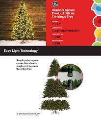 shop ge 7 5 ft pre lit oakmont spruce artificial tree