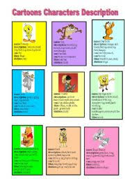 english teaching worksheets cartoons