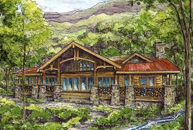 Large Log Cabin Floor Plans Log Plans Architectural Designs