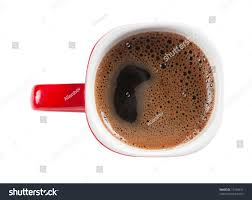 Top Of Coffee Cup Red Cup Coffee Isolated Over White Stock Photo 72164431 Shutterstock