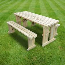 tinwell rounded picnic table and bench set 6ft rutland county