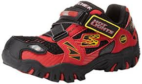 skechers red light up shoes skechers boys damager fire truck red black low top 90347l 12 uk