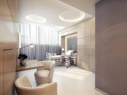 interior stylish design green contemporary office and plus white