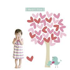 heart tree fabric wall stickers by littleprints heart tree fabric wall stickers