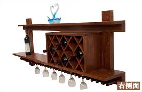 bar table with wine rack new classical chinese furniture of pine wood wine rack wine glass