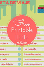 freebie printable lists in spanish mommymaleta