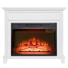 akdy 32 in freestanding electric fireplace insert heater in white