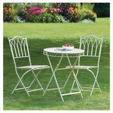 Tesco Bistro Chairs Buy Versailles Bistro Set Cream From Our Metal Garden Furniture
