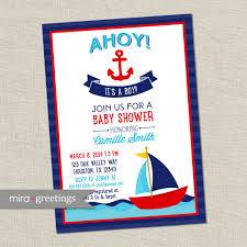 ahoy its a boy baby shower invitations best inspiration from