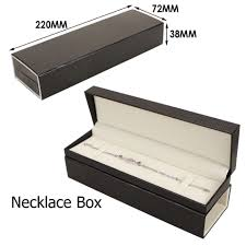 necklace boxes images Upscale faux leather gift jewelry display box bridal chain jpg