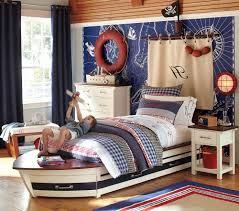 boys bedroom ideas pottery barna red yellow and blue striped shared