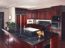 Red Color Kitchen Walls - what color to paint kitchen walls with dark cabinets my home