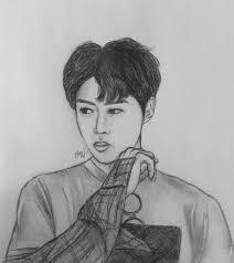 sehun fanart a rough sketch exo 엑소 amino