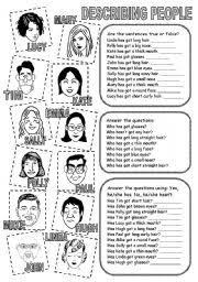 english teaching worksheets describing people english for fun