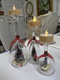 wine glass snow globes wine glass christmas crafts chritsmas decor