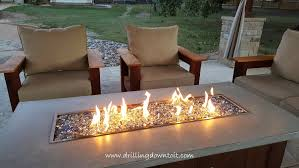 how to save money on fire glass drilling down to it