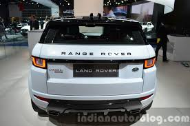 range rover back 2016 range rover evoque rear at the 2015 iaa indian autos blog