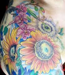 Floral Sleeves For Work On My Floral Sleeve Passionflower