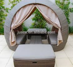 Outdoor Daybed With Canopy Rattan Round Outdoor Lounge Bed Outdoor Furniture Daybed Round