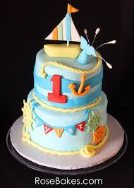 nautical cake nautical themed birthday cake with sailboat topper bakes