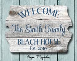 Personalized Wood Signs Home Decor Beach House Signs Etsy
