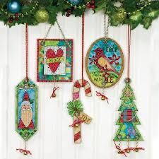dimensions jingle bell ornaments cross stitch kit 70